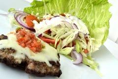 Cheeseburger/insalata della salsa Immagine Stock Libera da Diritti