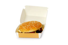 Cheeseburger  isolated Royalty Free Stock Images