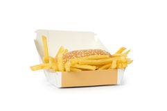 Cheeseburger  isolated Stock Photography