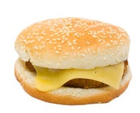 Cheeseburger, isolated Stock Photo
