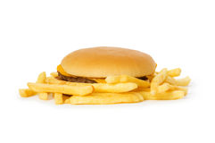 Cheeseburger isolated on the white Royalty Free Stock Image