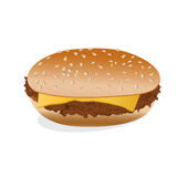 Cheeseburger, isolated on white background Stock Photography