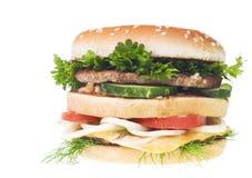 Cheeseburger isolated on white background Stock Image