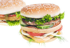 Cheeseburger isolated on white background Royalty Free Stock Photo