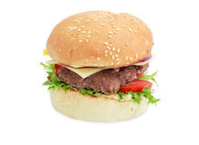 Cheeseburger on a light background Royalty Free Stock Image