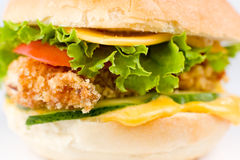 Cheeseburger, macro Stock Photography