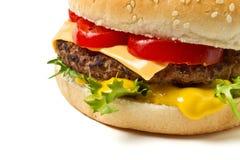 Cheeseburger n Mustard Royalty Free Stock Photo