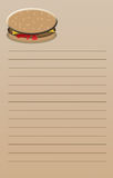 Cheeseburger Note Pad Royalty Free Stock Images