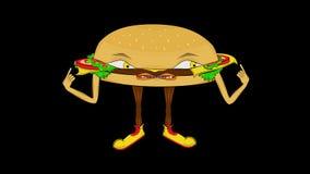 Cheeseburger ono przedstawia Przejrzysty, alfo/ royalty ilustracja