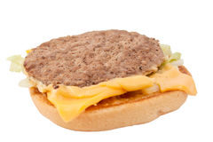 A cheeseburger patty Stock Images