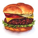 Cheeseburger saboroso ilustração royalty free
