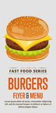 Cheeseburger sale flyer. Royalty Free Stock Images