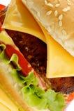 Cheeseburger saporito Fotografia Stock Libera da Diritti