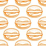 Cheeseburger seamless pattern Royalty Free Stock Photography
