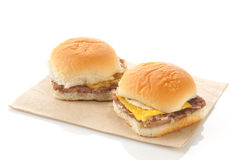 Cheeseburger sliders Stock Photo