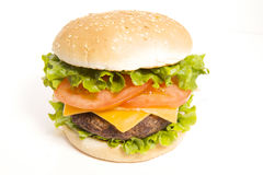 cheeseburger soczysty Zdjęcia Royalty Free