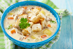 Cheeseburger Soup Royalty Free Stock Image
