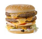 Cheeseburger triplice Fotografia Stock