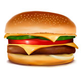 Cheeseburger.  Vector illustration. Stock Image