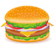 Cheeseburger vector illustration Royalty Free Stock Photo