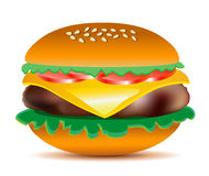 Cheeseburger vector illustration. Royalty Free Stock Photo