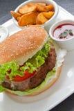 Cheeseburger Vertical Royalty Free Stock Photo