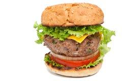 Cheeseburger on white background Stock Image