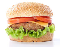 Free Cheeseburger With Tomatoes And Lettuce Royalty Free Stock Image - 20727826