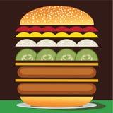 Cheeseburgerdoppeltes Lizenzfreies Stockfoto