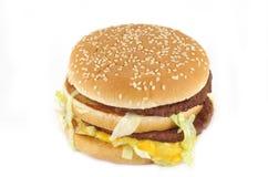 cheeseburgerdouble royaltyfria foton