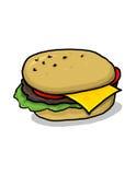 cheeseburgerillustration Arkivfoto