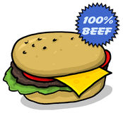 cheeseburgerillustration Royaltyfri Fotografi