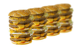 cheeseburgers μέγα Στοκ εικόνες με δικαίωμα ελεύθερης χρήσης