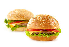 Cheeseburgers Royalty Free Stock Photos