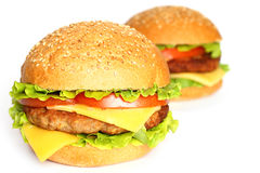 Cheeseburgers Royalty Free Stock Images