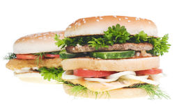 Cheeseburgers Stock Images