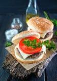 Cheeseburgers Stock Photography