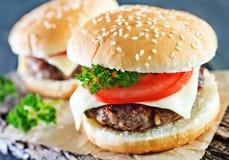 Cheeseburgers Stock Image