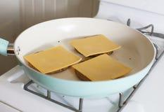 Cheeseburgers de Veggie Images stock
