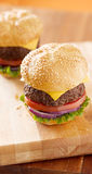 Cheeseburgers with vertical composition Stock Image