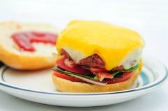 Cheeseburgerschuif Stock Afbeelding