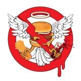 Cheeseburgerverbot Lizenzfreies Stockfoto