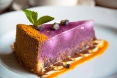 Cheesecake βακκινίων Στοκ Εικόνα