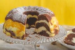 Cheesecake εξοχικών σπιτιών στοκ εικόνα με δικαίωμα ελεύθερης χρήσης