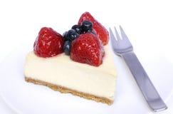 cheesecake επιδόρπιο Στοκ Εικόνα