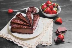 Cheesecake διάφορων κέικ Στοκ Εικόνες