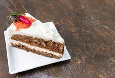 Cheesecake καρότων, κέικ καρότων Στοκ Εικόνες