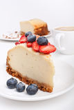 cheesecake καφές Στοκ Εικόνα