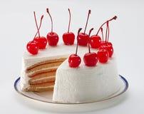 cheesecake κεράσι Στοκ Εικόνες