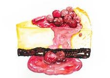 Cheesecake κερασιών Στοκ εικόνες με δικαίωμα ελεύθερης χρήσης